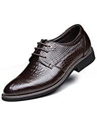 DADAWEN Men's Pointed Toe Lace Up Business/Dress Leather shoes