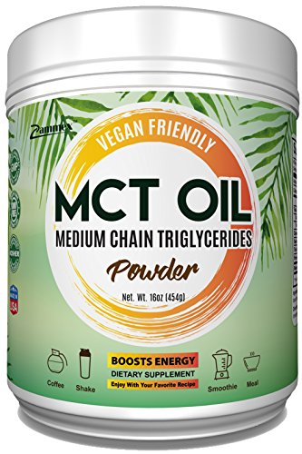 Premium MCT Oil Powder | Vegan Friendly & Keto Friendly Fat, GMO-Free, Clean Energy, Easy to Digest | Promotes Weight Loss & Heart Health, Boosts Metabolism, Improves Mood, Best Value-16oz