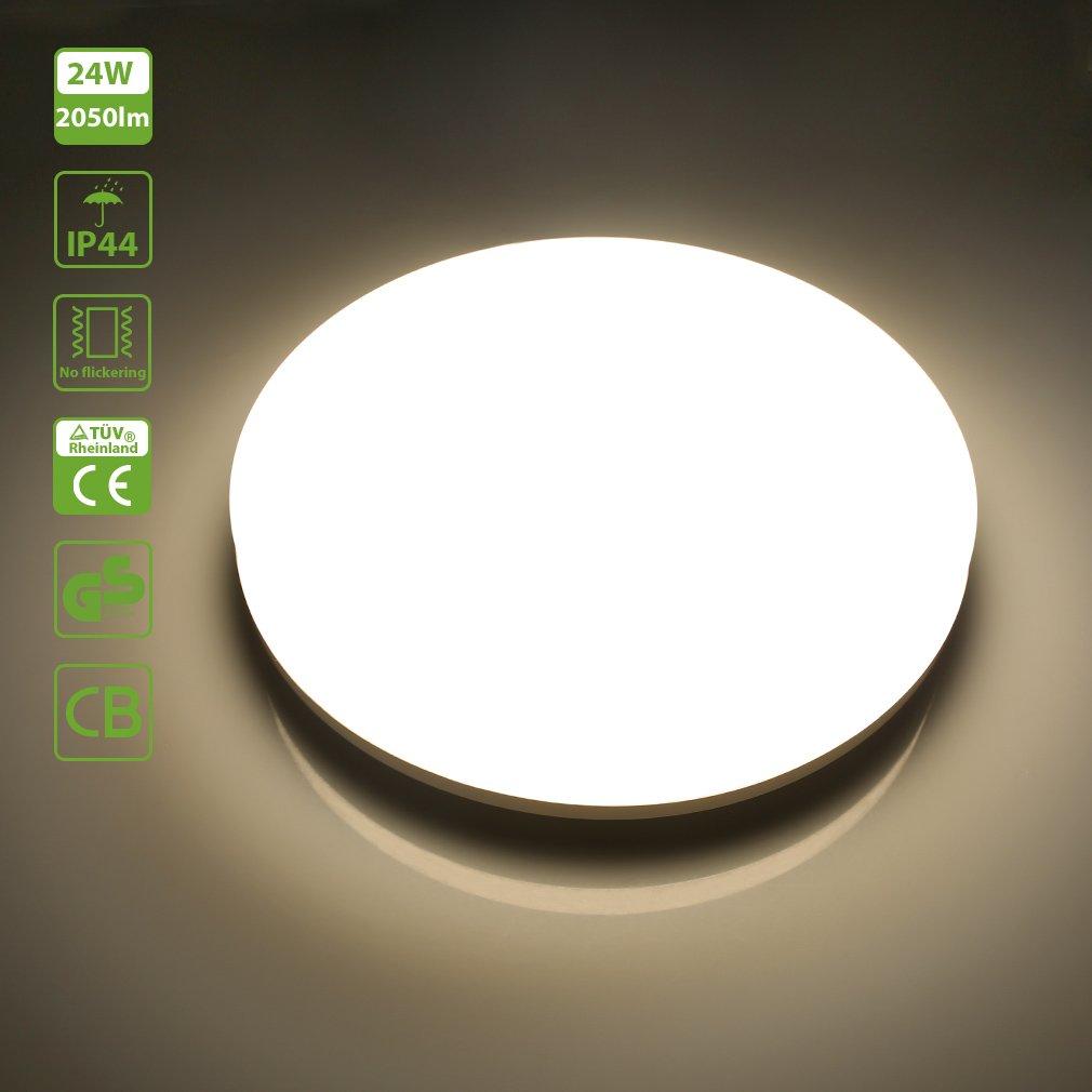 2er Oeegoo® 18W LED Deckenlampe Deckenlampe Deckenlampe Bad, 1550lm Ersetzt 100W Glühbirne, IP44 Wasserfest Feuchtraumleuchte Flimmerfrei Deckenleuchte Ø28cm 4000K, Led Badlampe Für Wohnzimmer Badezimmer Küche Korridor c7e51e