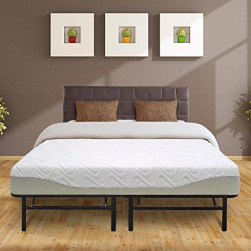 Best Price Mattress 9' Gel-infused Memory Foam Mattress & 14' Premium Metal Bed Frame Set, King