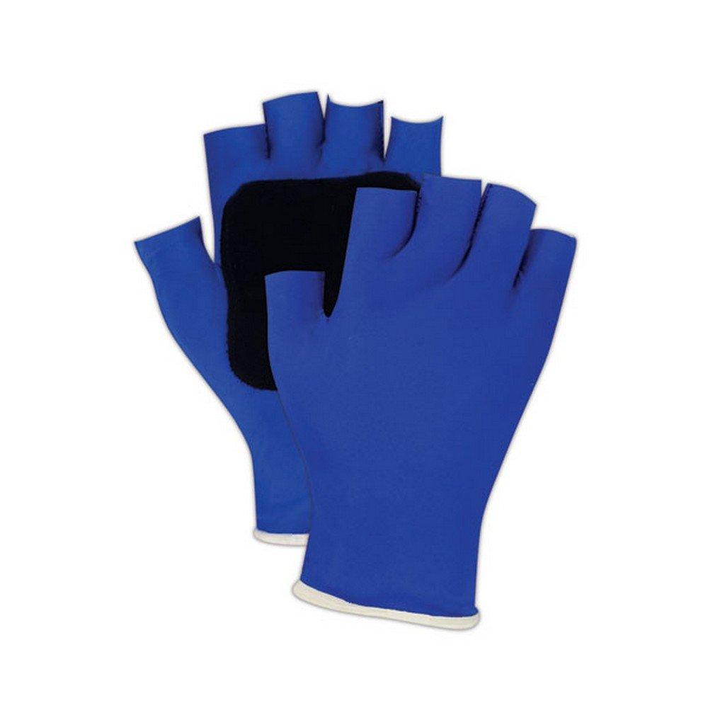 Ergotech ER502 S Sorbothane Palm Padded Anti-Vibration Gloves, Small, Black/Blue
