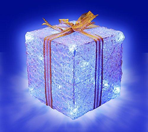 Rotpfeil Weihnachtsbeleuchtung.Rotpfeil Geschenkpaket Weiß 20x20 Cm Mit Led