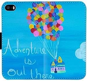 Pcbrim aventura está ahí fuera Vemggf U1I6C Funda iPhone 5 5S 5SE caja de cuero Funda Flip Case I36qJI Genérico Teléfono funda protectora