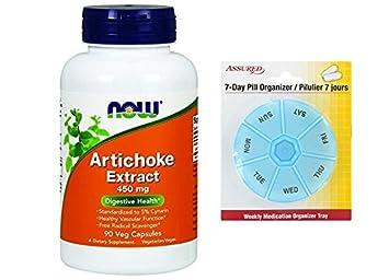 Ahora alimentos alcachofa extracto 450mg, cápsulas de Veg, 90-Conde con gratis 7