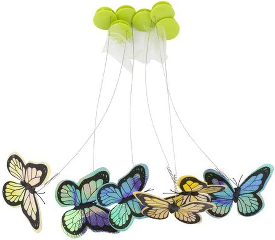 All for Paws Interactive Cat Butterfly Flutter Replacements Cat Fun Playing Toy, Re-Fill - 6 Pack : Pet Supplies