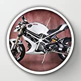 Designer Wall Clock,Vilner Design Ducati Monster 1100 Evo Motorcycle Bike White Modern Design Watch Wall 10