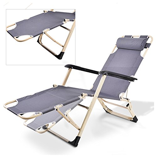 Livebest Outdoor Reclining Lounge Adjustable Back Folding