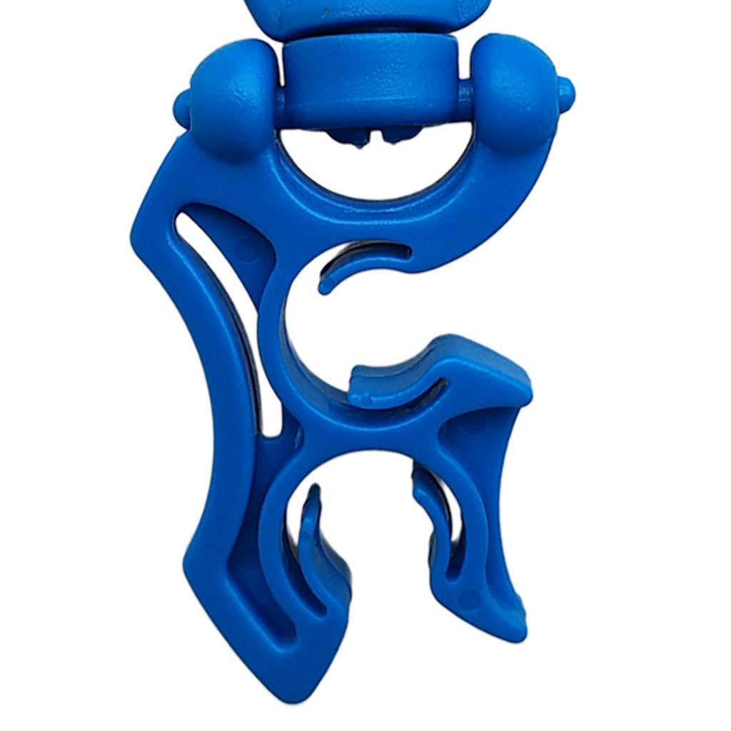 perfeclan 3 Pezzi di Immersioni Subacquee Supporto Tubo Hose Holder Double BCD con Clip A Scatto Attrezzo