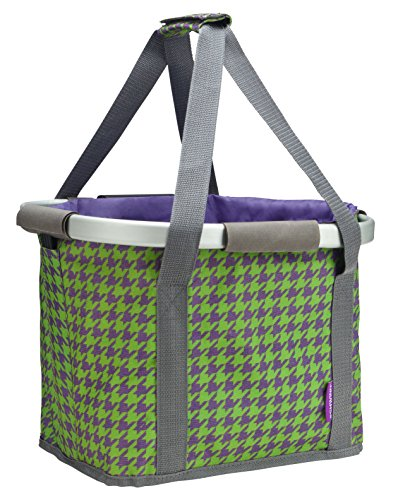 Schwinn Collapsible Handlebar Basket, Purple