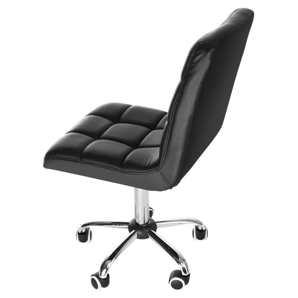Executive Office Chair,Fashion Casual Lift Chair Beauty Salon Chair, 360 Degree Free Rotation with Back Support in (Black)