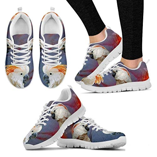 Salmon Crested Cockatoo Parrot Running Shoes for Women-Casual Comfortable Sneakers Running (Salmon Crested)