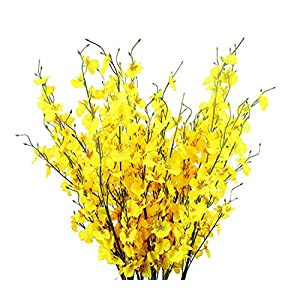 "Odalisque Artificial Dancing Lady Orchid Flowers 10 Pieces 39.3"" Long of Fake Orchids Butterfly Artificial Flower for Indoor Outdoor Wedding Home Office Christmas Decoration 48"