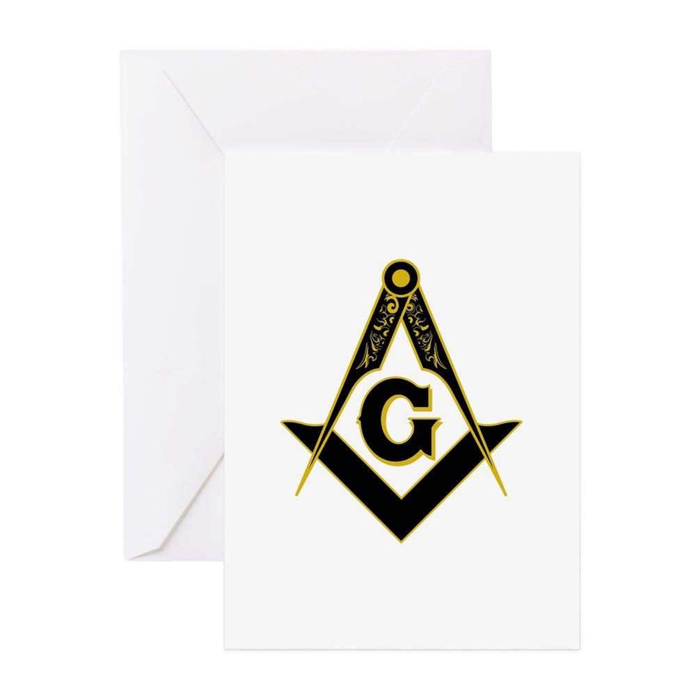 Amazon Cafepress Masonic Black Greeting Card 10 Pack