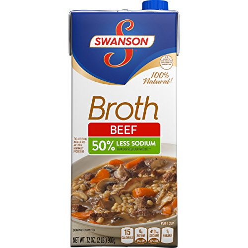 Swanson Broth, Low Sodium, Beef, 32 Ounce