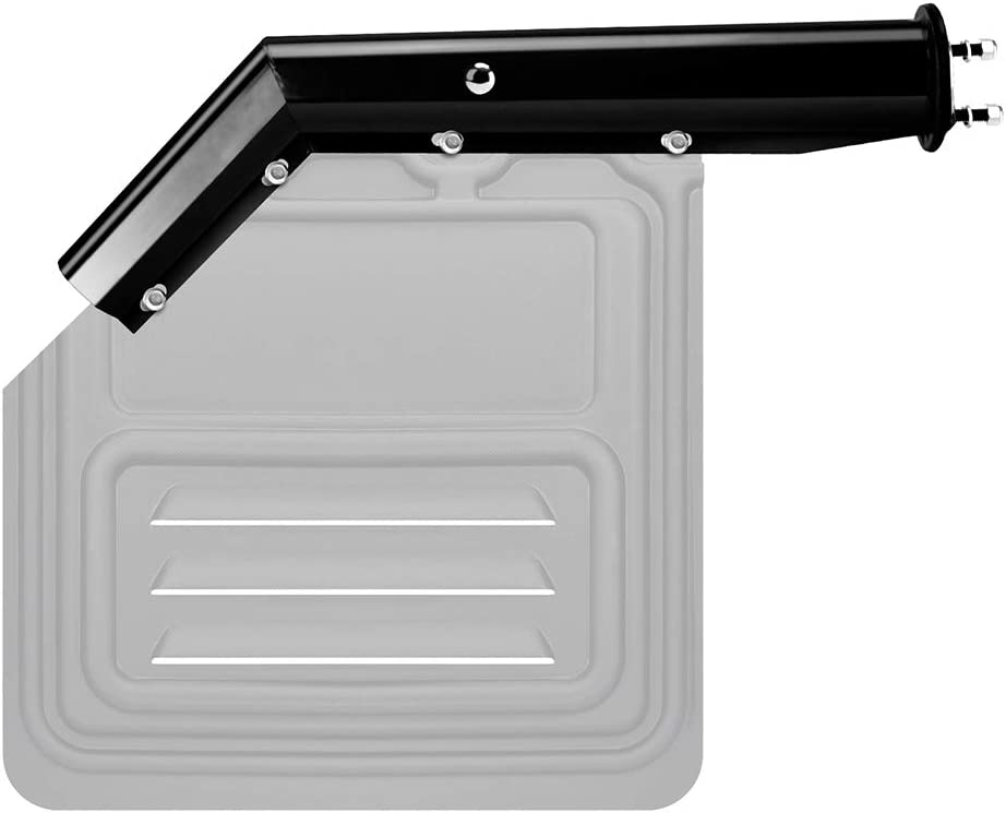 "45° Angled Chrome Mud Flap Hanger 2-1//2/"" Bolt Pattern"