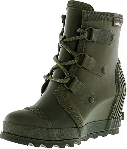 Women's Sorel Joan Wedge Rain Boot, Size 9.5 M - Green