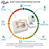 "ISEE Video Baby Monitor 3.5"" Large LCD Screen with Night Vision Camera, Long Rang Monitors with Audio, Temperature and Lullabies."