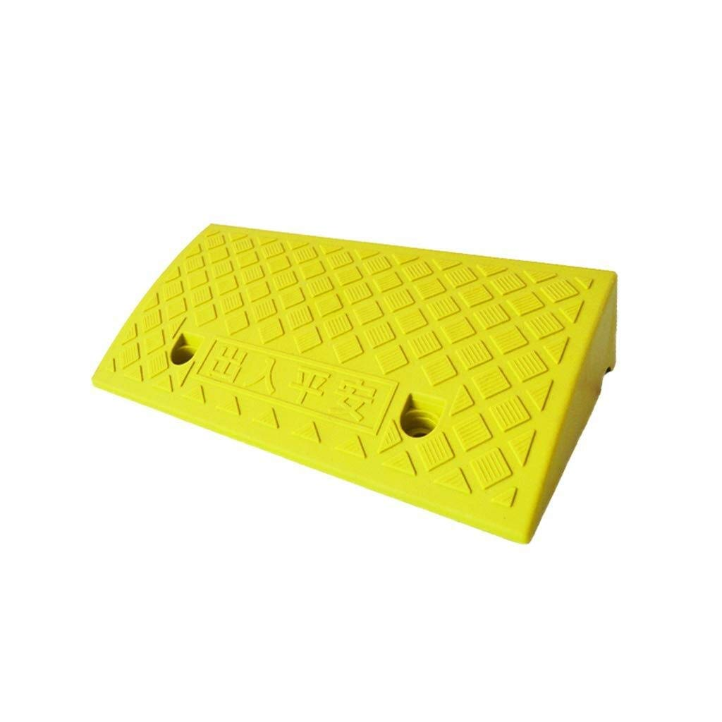 Kerb ramps Rubber Threshold for Cars Wheelchair Mobility Disabled Access Outdoor Slope Mat - 7CM (Color : Yellow)