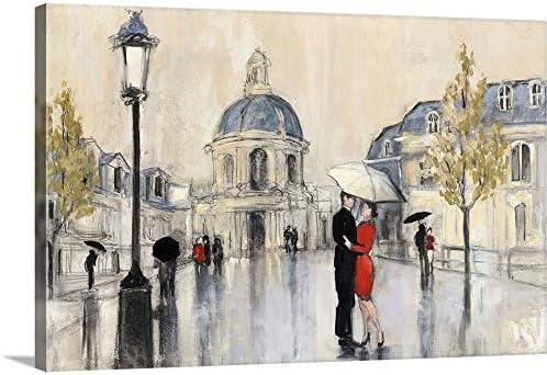 Spring Rain Paris Canvas Wall Art Print