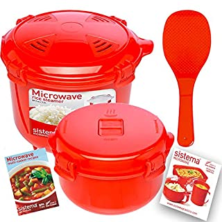 2 Red Sistema Klip It Microwave Steamer Food Storage Container Bowl Tray Vent Locking Lid (B010MI1OJ0) | Amazon price tracker / tracking, Amazon price history charts, Amazon price watches, Amazon price drop alerts