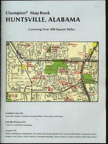 Champion Map Book Huntsville Alabama (Madison - Stores Huntsville