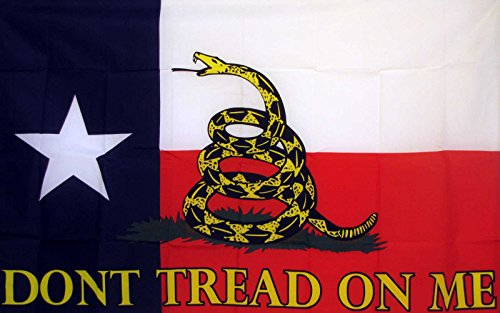 - Gadsden Don't Tread On Me Texas State 5'x3' Flag