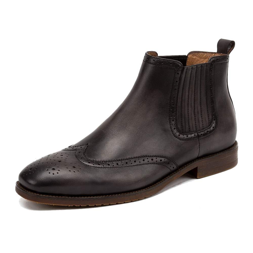 Brogues De Los Hombres De Cuero Genuino Chelsea Boots Square Toe Casual Botines De Desierto del Desierto para El Trabajo Vestido Formal Zapatos Calzado: ...