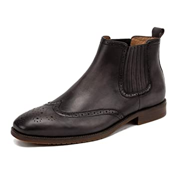 ... Botines De Cuero Genuino De La Vendimia Botas De Desierto Ocasionales Zapatos De Trabajo Zapatos De Vestir Formales: Amazon.es: Deportes y aire libre