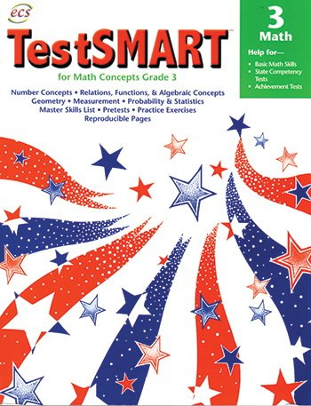 TestSMART for Math Concepts Grade 3: Help for Basic Math Skills, State Competency Tests, Achievement Tests