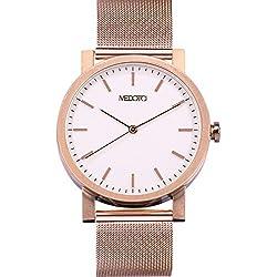 MEDOTA Stainless Steel Waterproof Watch Umbra Series Swiss Watch Quartz Mens Watch - No. 21203 (Rose)