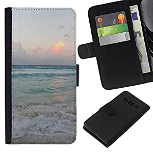 All Phone Most Case / Oferta Especial Cáscara Funda de cuero Monedero Cubierta de proteccion Caso / Wallet Case for Samsung Galaxy A3 // Sand Summer Sunset Sunrise Ocean