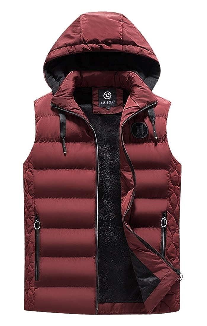 Yayu Mens Puffer Vest Active Gilet Padded Vest Hooded Lightweight Outwear Jacket