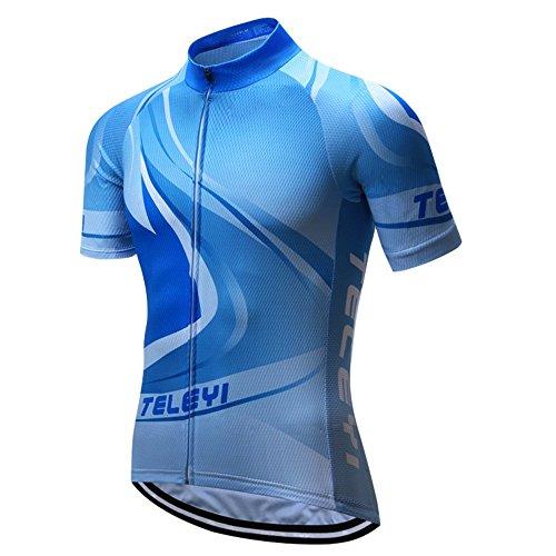 LBY LBYMaillot de cyclisme unisexe Half Sleeve Biking Top Sports Outdoors Chemise Vêtements de séchage rapide