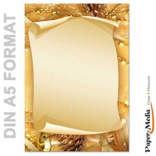 Briefpapier Weihnachten Frohe Weihnachten Din A5 Format 100 Blatt