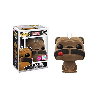 Funko Pop! Marvel #257 Inhumans Flocked Lockjaw (2020 Fall Convention Exclusive): Toys & Games