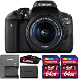 Canon EOS Rebel T6i 24.2MP Digital SLR Camera with 18-55mm IS STM Lens and Two 64GB Memory Cards