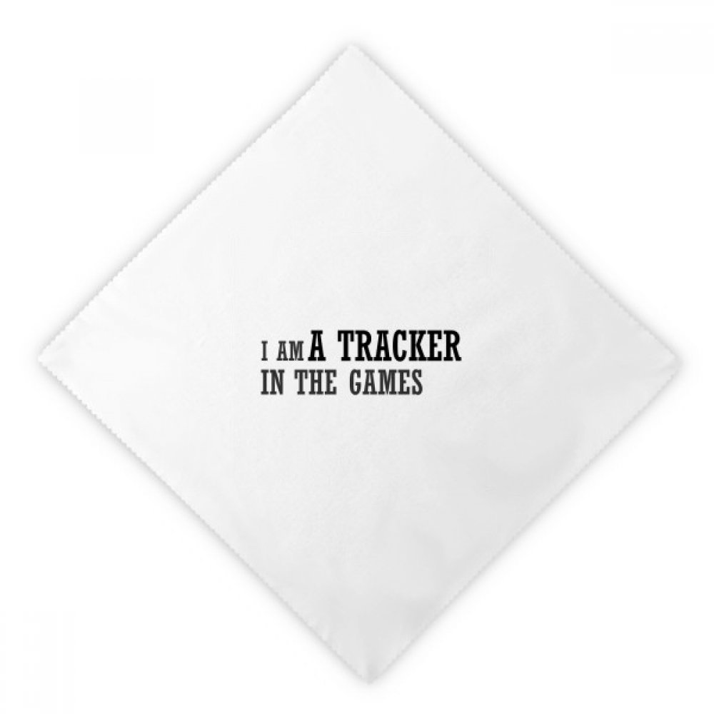 DIYthinker I Am A Tracker In The Games Dinner Napkins Lunch White Reusable Cloth 2pcs