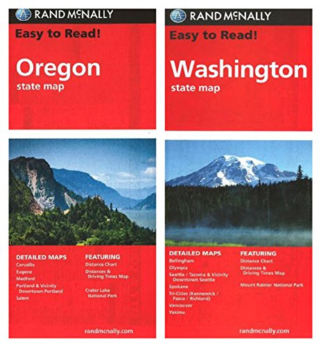 Rand McNally State Maps: Oregon and Washington (2 Maps)