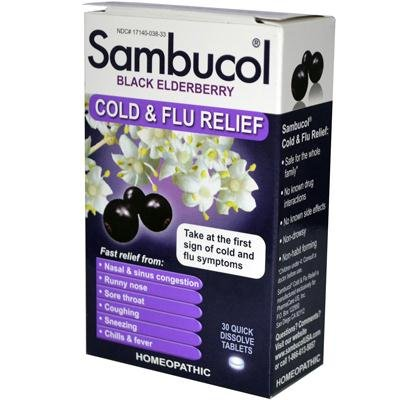 Sambucol Black Elderberry Cold And Flu Relief - 30 (Flu Relief Berry)