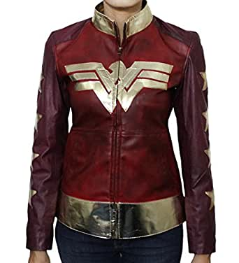 Urbanoutfitters Wonder Woman Gal Gadot Diana Prince Women's Waxed Leather Jacket (XXS)