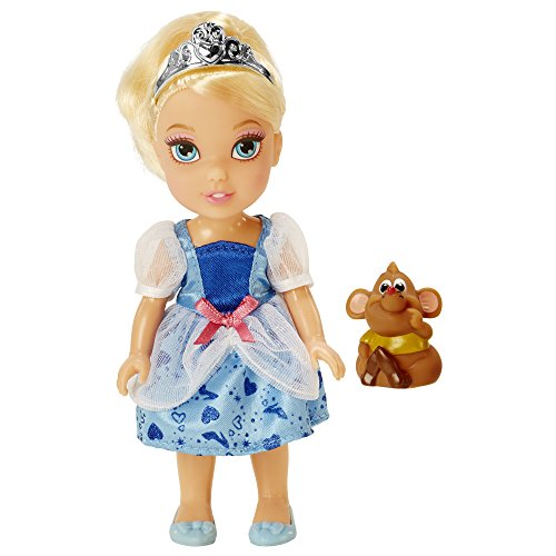 Disney Princess Petite Cinderella Doll and Gus Gus Figure 6 Inches -