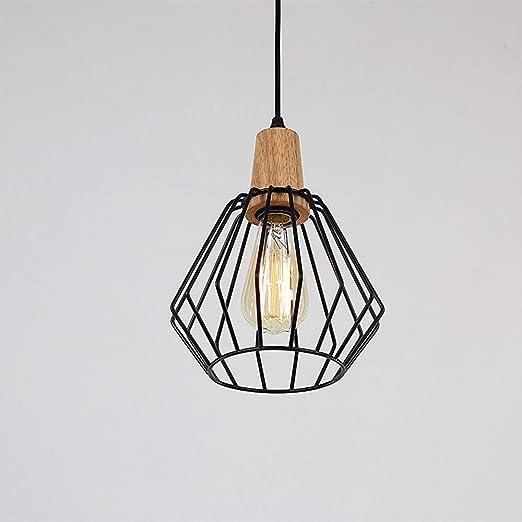 Glighone Suspension Luminaire Industrielle Lustre Plafonnier Vintage Rétro E27 Edison Culot Abat Jour En Métal Cage Pour Cuisine Hôtel Salle à Manger