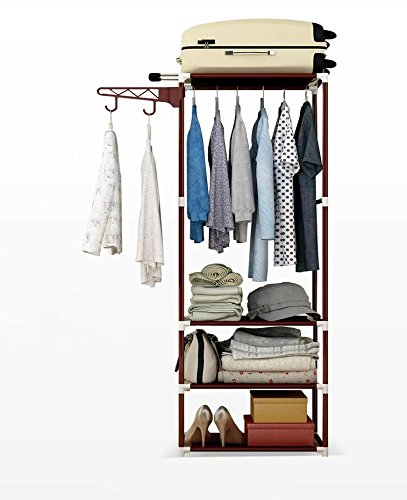LgW Portable Canvas Wardrobe For Bedroom Closet Organizer Can  Store,Shoes,Handbags Storage Clothes