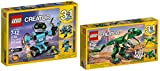 LEGO CREATOR 3 in 1 Robo Explorer and LEGO CREATOR Mighty Dinosaurs BUNDLE