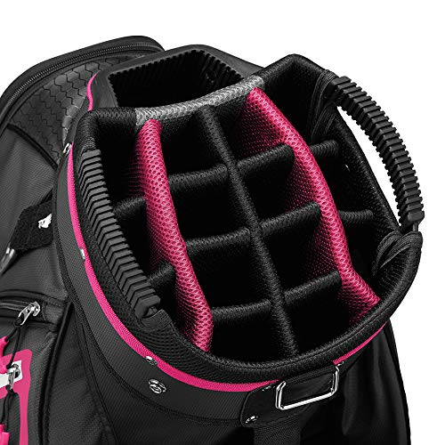 TaylorMade 2019 Golf Select Cart Bag, Black/Pink