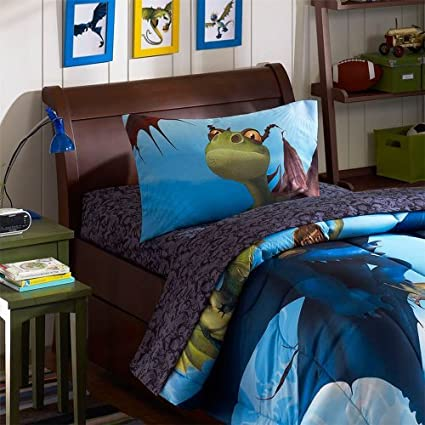 How to train your dragon twin sheet set amazon home kitchen how to train your dragon twin sheet set ccuart Choice Image