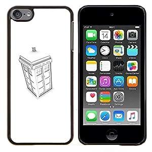 Blanca stand Policía- Metal de aluminio y de plástico duro Caja del teléfono - Negro - iPod Touch 6