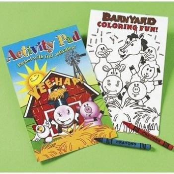 Fun Express Farm Animal Activity Pads with Crayons