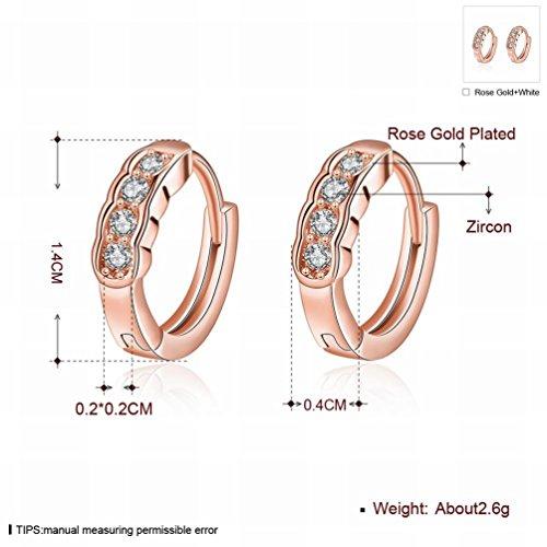 MOMO une Paire de Petites Boucles D'oreilles Rondes / Oranges / Anti-allergiques / Zirconium Faites de Boucles D'oreilles