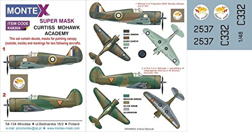 Montexスーパーマスク1 : 48 Academy p-36 Mohawk for k48304 Academy kit 48 # 2 Spraying Stencil # k48304 B01FUPWUUW, BELLEshop:95a29d69 --- ijpba.info